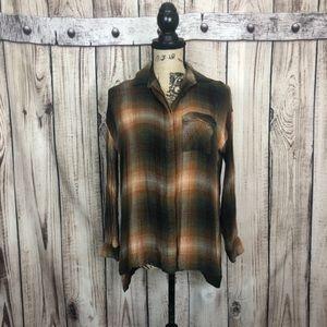 BDG Brown PlaidButton Down Shirt